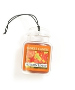 4 new yankee candle ultimate car jar air freshener autumn leaves - $13.00