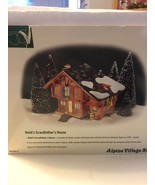 Department 56 Alpine Village Series Heidi's Grandfather's House MINT in Box - $39.59