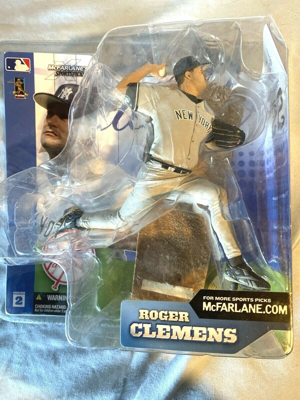Primary image for McFarlane Toys MLB Baseball Series 2 Roger Clemens NY Yankees Action Figure New