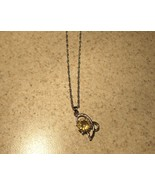 NECKLACE WOMENS GEMSTONE YELLOW CITRINE DOLPHIN... - $9.99