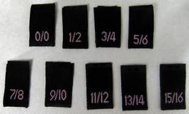 MIXED LOT 1000pcs BLACK WOVEN SEWING CLOTHING S... - $36.59