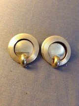 Vintage Gold Tone Circle Clip on Earrings & Necklace Retro - $8.00