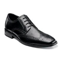 Men's Shoes Florsheim Castellano Black Wing Ox Leather 14137-001  - $123.75