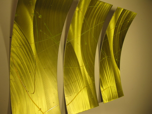 Abstract Wall Art Metal Modern Sculpture Painting new image 2