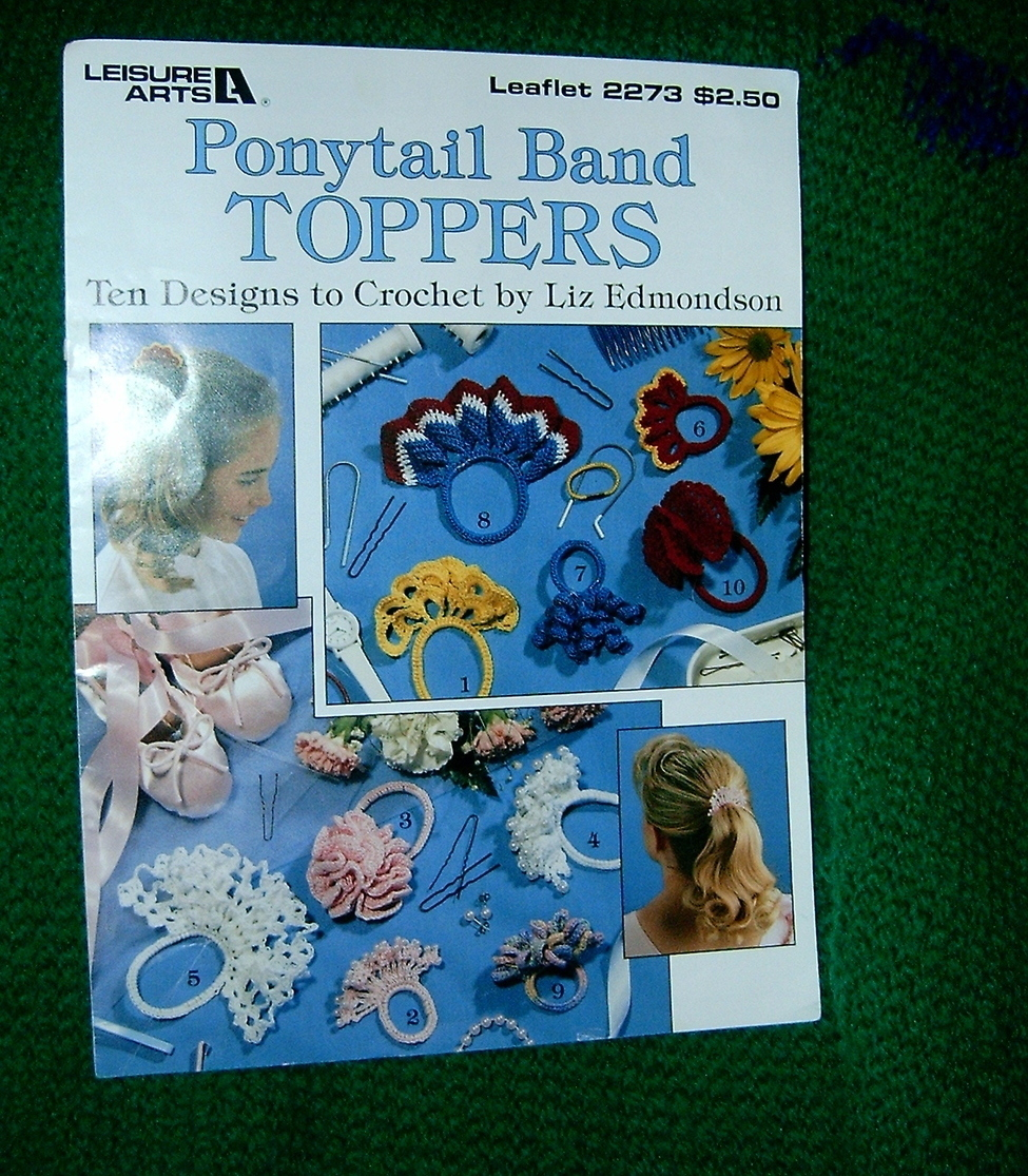 Ponytail Band Toppers Ten Designs Crochet Leisure Arts