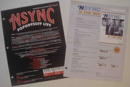 COOL NSYNC N THE MIX DVD Promo Sales Brochures! N Sync - $5.89