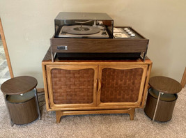 Zenith Stereo Record Player Troubadour Z590 Circle Of Sound Speakers Res... - $643.50