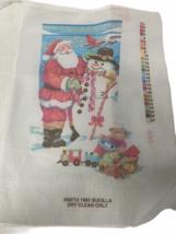 Bucilla Santa and Snowman Christmas Needlepoint Stocking Canvas ONLY #60... - $69.97