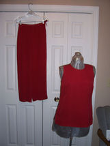 Talbots Petites Size 4 Pants Sleeveless Top Outfit - $14.99