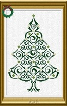 CT127 Christmas Tree cross stitch chart AAN Alessandra Adelaide Needleworks - $14.17