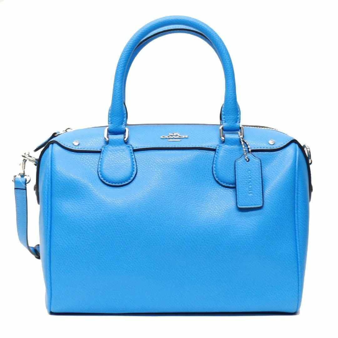 Primary image for Coach Women's Crossgrain Leather Silver/Azure Mini Bennett Satchel Bag F36624