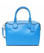 Coach Women's Crossgrain Leather Silver/Azure Mini Bennett Satchel Bag F... - $125.00