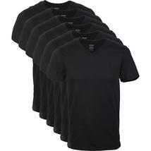 NEW NWT Gildan Men's V-Neck T-Shirts Multipacks, Black 6 Pack XXL 2XL XX... - $19.06