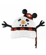 New Disney Parks Christmas Snowman Baseball Cap Hat Disney World Lights Up! - $24.74