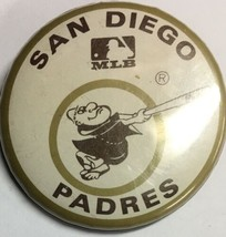 Vintage SD San Diego Padres California Sd Baseball 1 3/4 Inch Pin Pinback MLB - $7.87