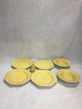 Lot 7 pieces misc. Vintage Independence Ironstone Interface JAPAN yellow... - $49.49