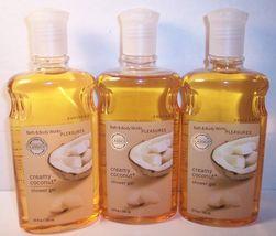 3 Bath & Body Works Shower Gel Creamy Coconut  - $55.99