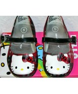 Hello Kitty  Mary Jane Shoes Red Black Toddler SZ 5 NEW Girls Plaid Jewe... - $20.00