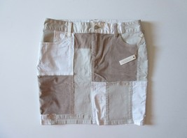 NWoT Anthropologie Pilcro Neutral Patchwork Mixed Media Pencil Skirt 28 - $13.99