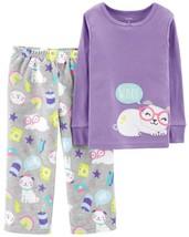 Carters Toddler Girl 2-Piece Dog Snug Cotton Fleece PJs Pajamas Purple 3T WOOF - $19.79