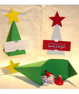 10 Christmas Tree Party Favor Boxes Box Paper *Kit* - $6.99
