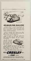 1947 Print Ad Crosley Cars Convertible & Pickup Trucks Cincinnati,Ohio - $10.48