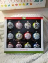 12 Days Of Christmas Glass Ornaments Rauch Blue Purple Green Glitter Tar... - $39.99