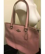 Coach Handbag F48637 Petal (Pink) Pebble Leather Bay Tote Authentic NWT  - $134.64