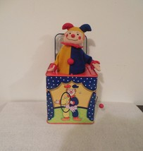 jack in the box 1997 Schylling vintage wind up toy clown circus carnival... - $17.50