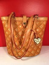 Dooney And Bourke Signature Orange Tote Bag - $63.54