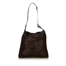 Pre-Loved Gucci Brown Dark Pony Hair Natural Material Shoulder Bag Italy - $345.02
