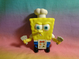 Burger King SpongeBob SquarePants PVC Chef Figure - as is - scraped - bent nose - $2.23
