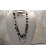 Fashion Brown Acrylic Beads Necklace & Earring Set  - $12.99