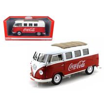 1962 Volkswagen Samba Bus Van Coca Cola Red/White 1/18 by Motorcity Clas... - $99.32