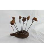 Rosterei Wooden Mouse Hors d'oeuvre Appetizer Fork Picks - $39.95
