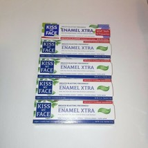 Lot Of 5 Kiss My Face Toothpaste Enamel Xtra Cool Mint Gel 4.5oz Vegan F... - $35.63