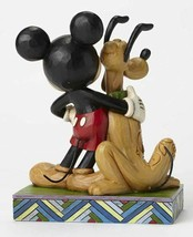 "6"" ""Best Pals"" Mickey Mouse & Pluto Figurine - Jim Shore Disney Traditions image 2"