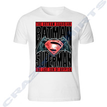 BATMAN VS SUPERMAN Dawn of Justice WHITE T-SHIRT S - 5XL - $9.89+