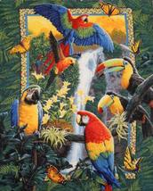 TropicaL Birds Parrots ButterfLies Cross Stitch Pattern***L@@K*** - $4.95