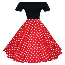 Maggie Tang 1950s Vintage Retro Polka Dots Swing Rockabilly Casual Skirt... - $37.06