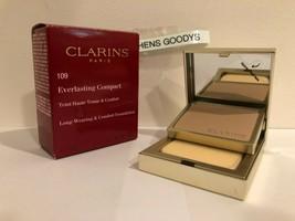 Clarins Everlasting Compact Long Wearing Foundation  #109 Wheat NIB .3 oz - $17.51