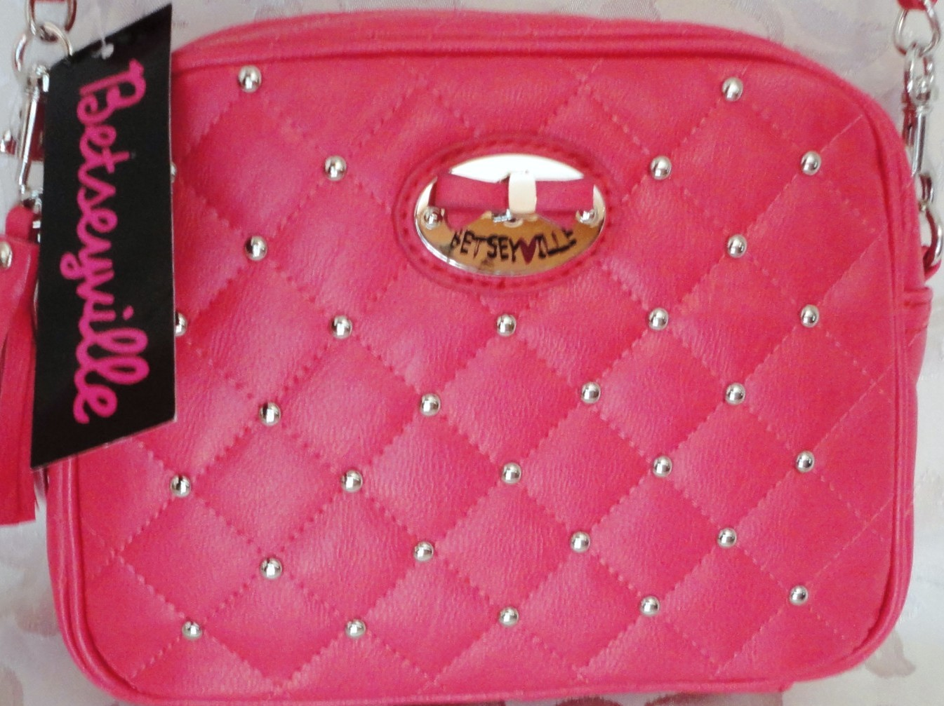 Betseyville® Quilted Studded Crossbody Bag NWT BV028