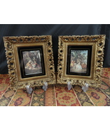 Pair Of Vintage Ornate Gold Framed Old Masters Art Prints TMC 1011 Made ... - $22.00