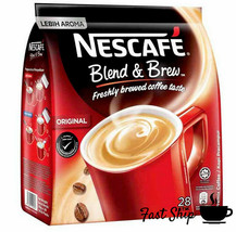 NESCAFE 3 IN 1 Original Blend Brew  4 Packets  (28 Sticks) With Free Gift - £18.82 GBP