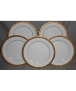 Set (5) Crate & Barrel VOLANTE PATTERN Dinner Plates MADE IN ITALY - $128.69