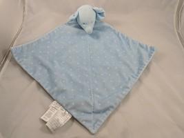 Carters Child of Mine Blue Elephant Stars Lovey Security Blanket Plush S... - $12.95