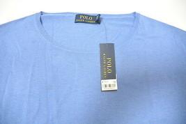 Polo Ralph Lauren Encolure en U Pull L BAR Harbor Bleu Solide Coton Ampl... - $50.09
