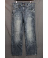 Men's Rock & Republic Relaxed Straight Jeans Stretch Dark Faded  34 x 30... - $23.94