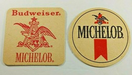 Budweiser Michelob Vintage Paper Beer Coasters Anheuser - $8.59
