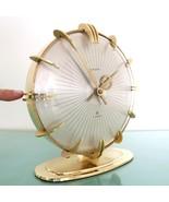 EUROPA SUNBURST Mantel Clock Alarm XXL Vintage 8 day 7 JEWELS! Germany S... - $899.00